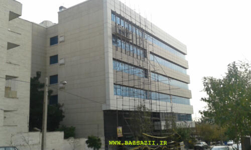 بازسازی نمای ساختمان پتروشیمی جم