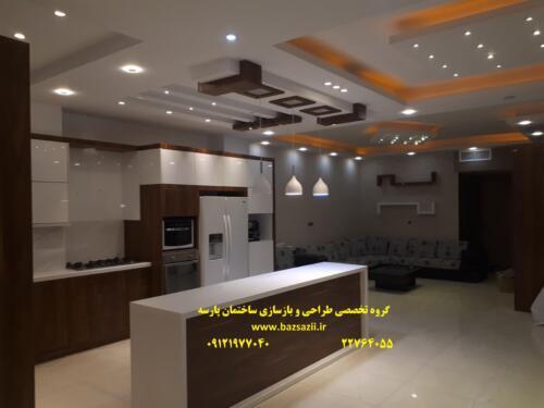 طراحی آشپزخانه پروژه میدان هروی
