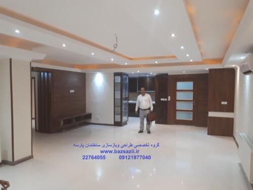 بازسازی ساختمان سعادت آباد خ علامه